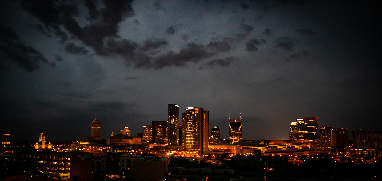 nashville skyline night